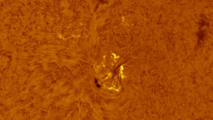 Новосибирец снял вспышку на Солнце (видео)