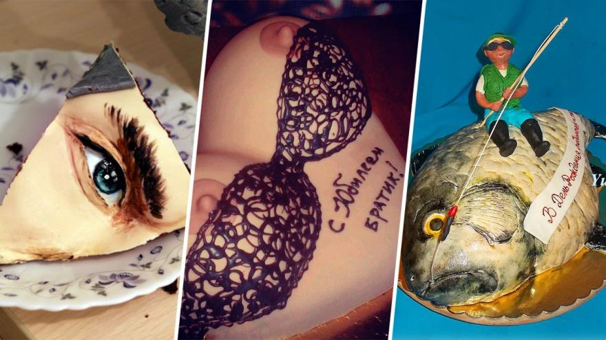 Грудь, глаза, карасики: смотрим десятку самых сумасшедших тортов, испечённых в Челябинске