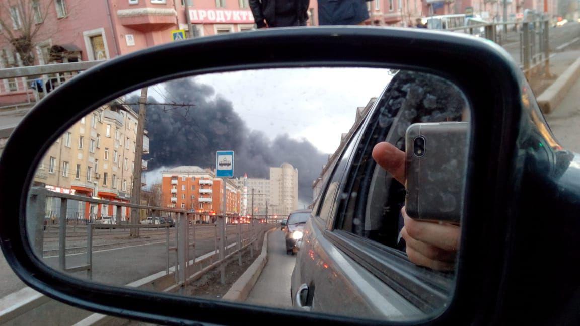 Дым на Красрабе