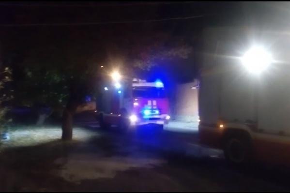 На месте работали несколько пожарных бригад