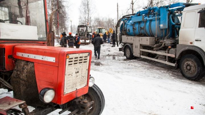 С пятницы на субботу в трёх округах Архангельска отключат воду из-за ремонта на «тысячнике»
