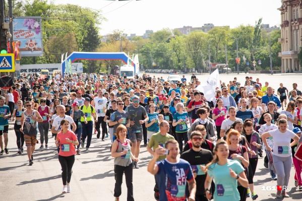 В забеге зарегистрировались более 5000 участников, действительно массовое мероприятие!