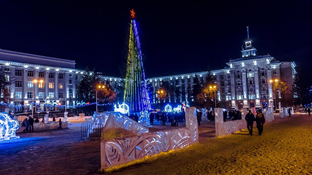 Так выглядит городок на Советской площади