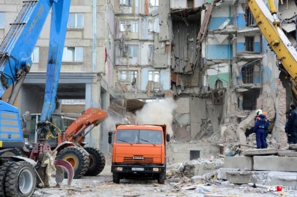 Обрушение целого подъезда жилого дома произошло 31 декабря