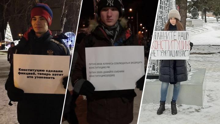 Красноярцы организовали серию одиночных пикетов в защиту Конституции РФ