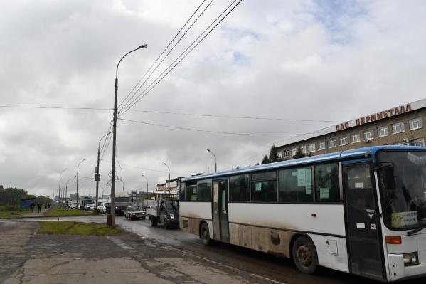 В пробках стоят и легковушки, и автобусы