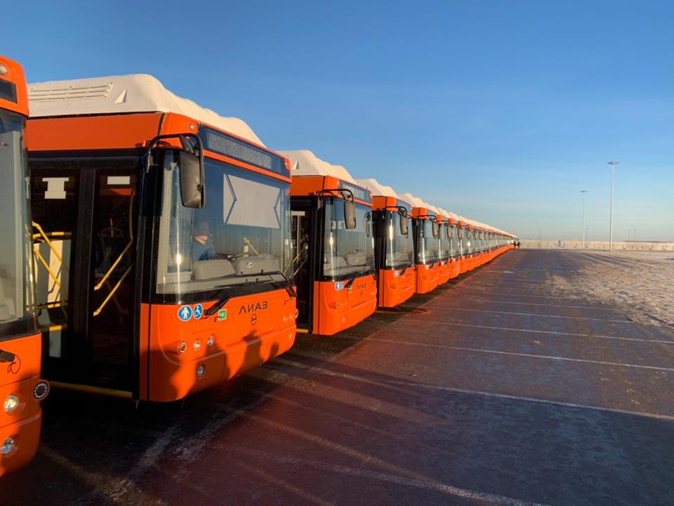Скоро город ждет вторую половину новых автобусов