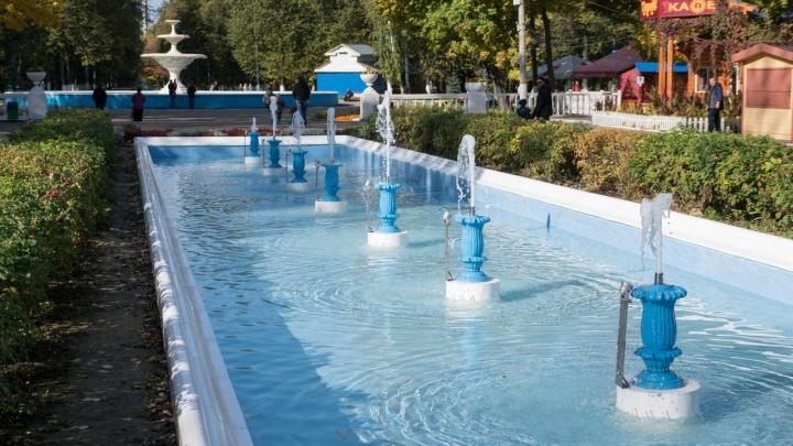 Они не маленькие, просто холодно: в Автозаводском парке заработала Большая аллея фонтанов