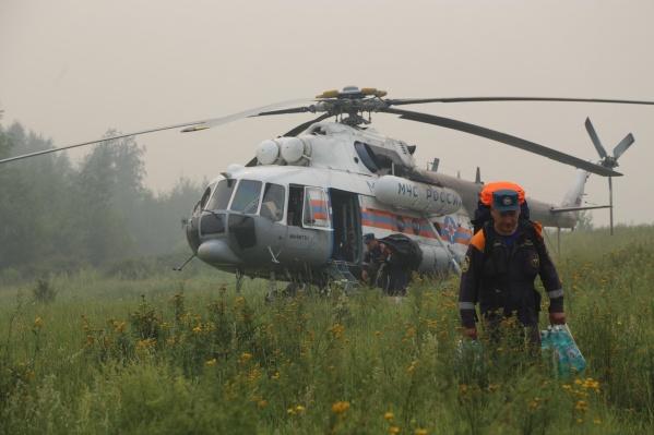 Группировку пожарных перебросили в Эвенкию
