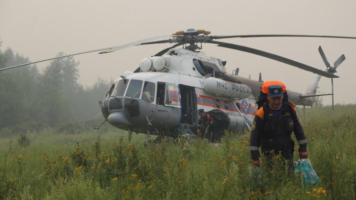 Смотрим видео тушения красноярских пожаров с воздуха