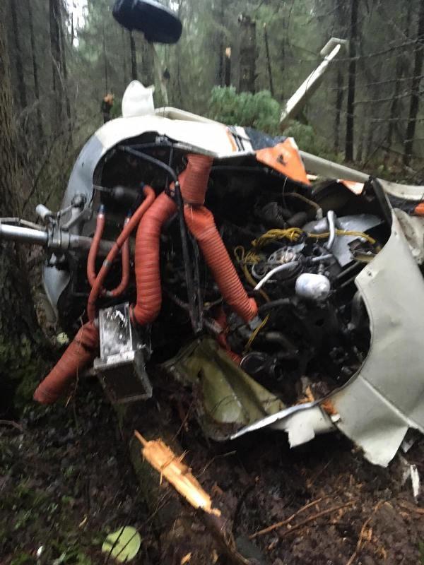 Самолет очень сильно пострадал при падении
