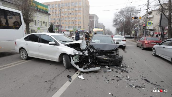 Крупная авария произошла в центре Ростова