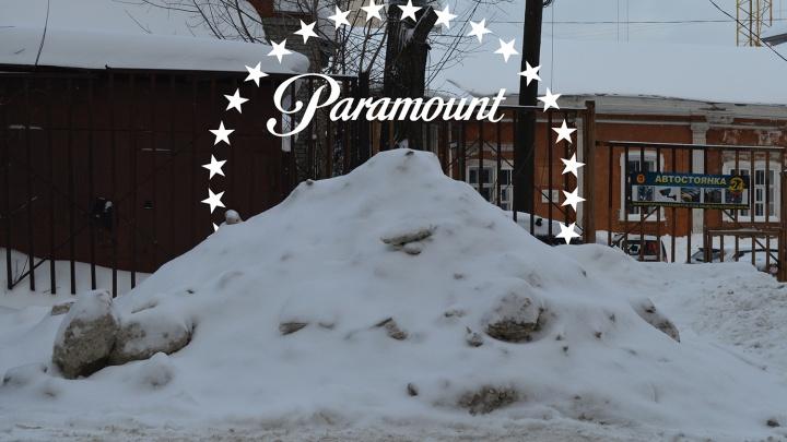 Фудзияма, горные козлы и «Титаник»: фотожабим снежные кучи в Перми