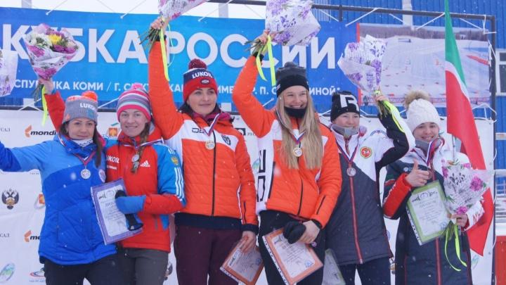 Две спортсменки из Архангельской области взяли серебро на Кубке России по лыжным гонкам