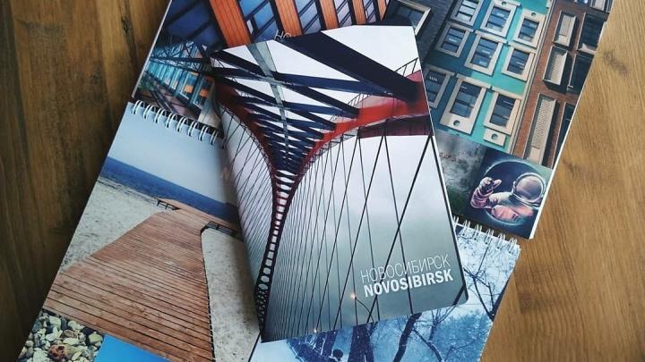 Сибирячка выпустила блокноты и тетради с фотографиями Новосибирска из Instagram