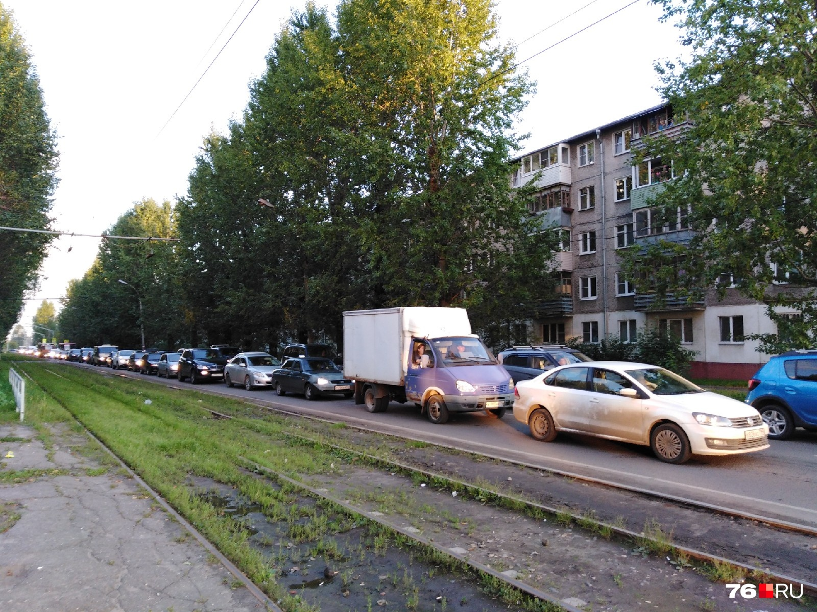 Улица Блюхера в районе ЖК «Октябрь» на данный момент