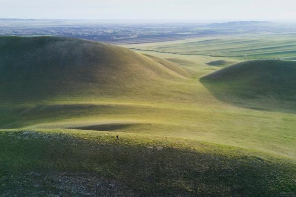 Фото Долгих гор с дрона