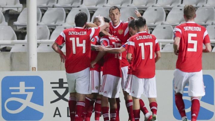Сборная России по футболу досрочно вышла на Евро-2020, всухую разгромив команду с Кипра
