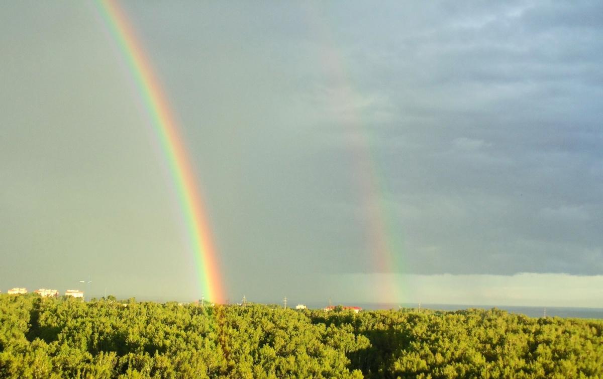 Двойная радуга над Ключ-Камышинским плато