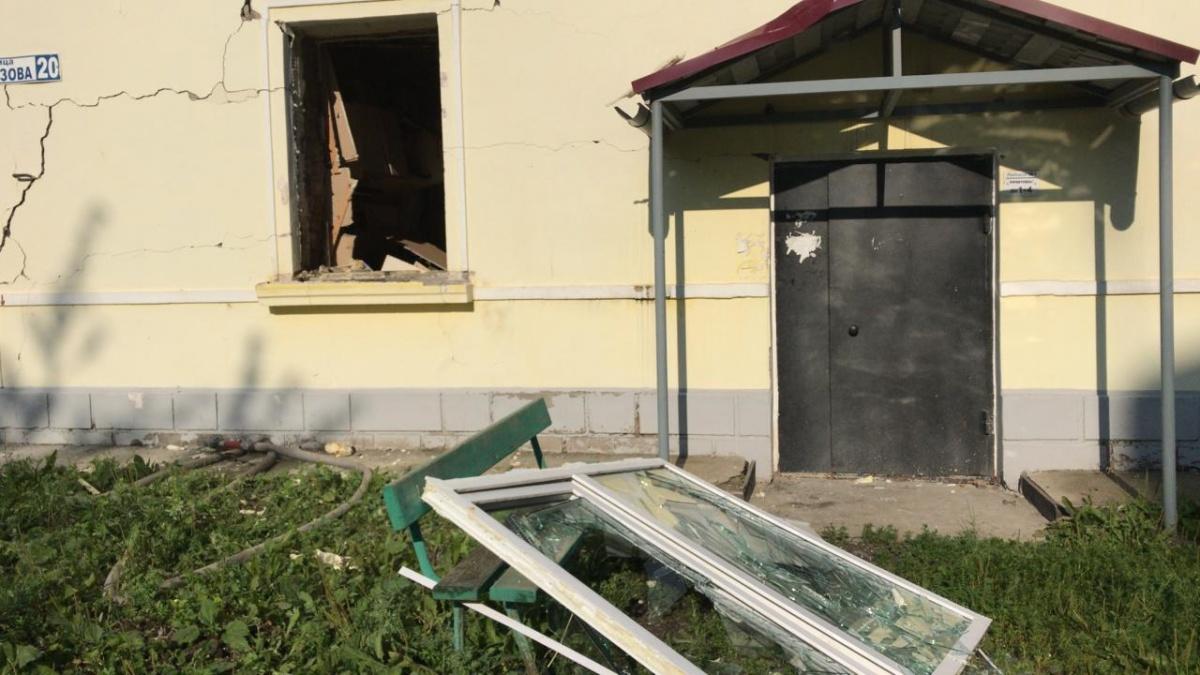 От взрыва выбило окна