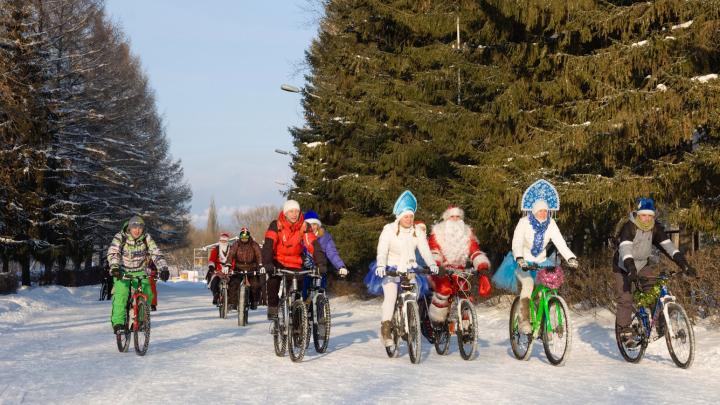 В Кургане велосипедисты проведут предновогодние «покатушки» в костюмах