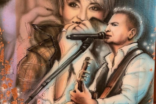 На картине Анжелика Варум и Леонид Агутин