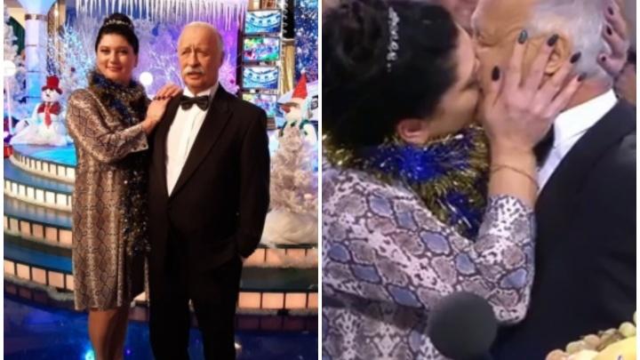 Тюменку показали в телешоу «Поле чудес». Там она очень страстно поцеловала Якубовича