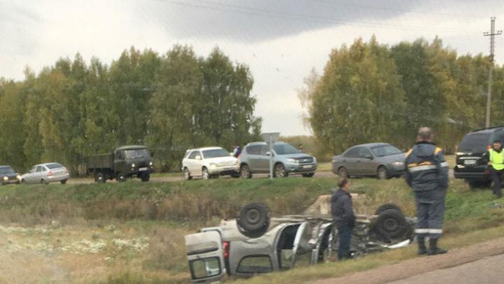 """«Не заметил """"Ларгус""""»: очевидцы рассказали, как произошла авария на трассе Уфа — Стерлитамак"""
