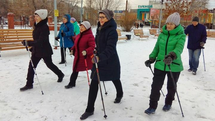 В Кургане открылся клуб любителей скандинавской ходьбы