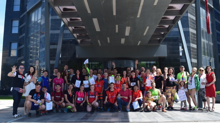 Спортсмены взбежали на 22-й этаж отеля в Новосибирске