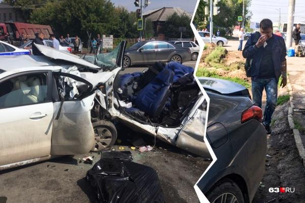 Водитель «Генезиса» не получил серьезных травм в ДТП