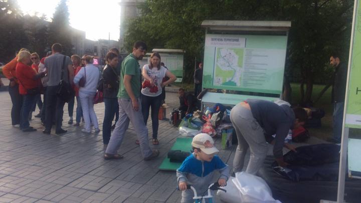 Голодающие дольщики Тульской покинули площадь Ленина