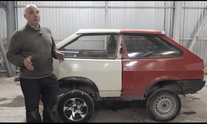 Для создания «танка» блогеры распилили два автомобиля