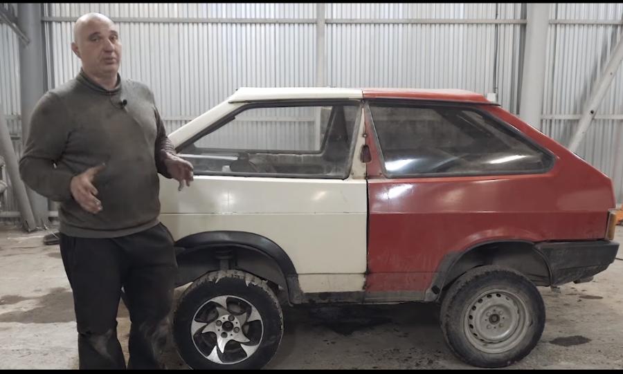 Новосибирский умелец собрал танк из 2-х авто «Лада»