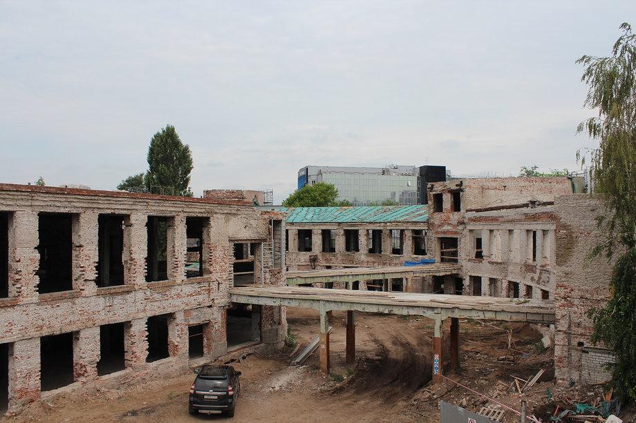 Так здание стало выглядеть после начала реконструкции