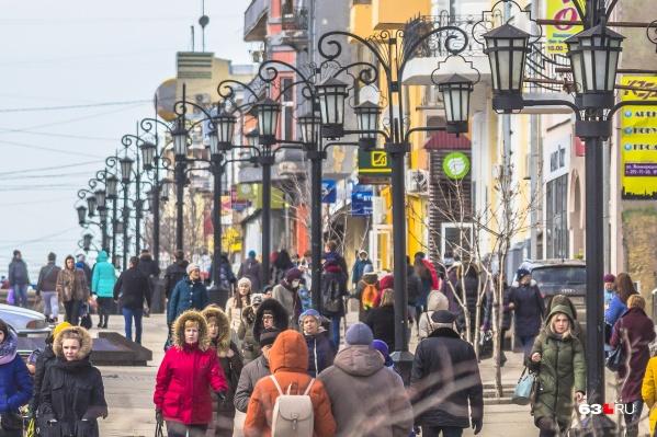 На главной пешеходной улице Самары разместили несколько десятков кафе<br>