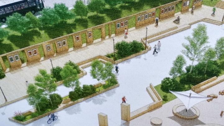 На месте бараков на Свердловской начали делать огромный сквер со скейт-парком