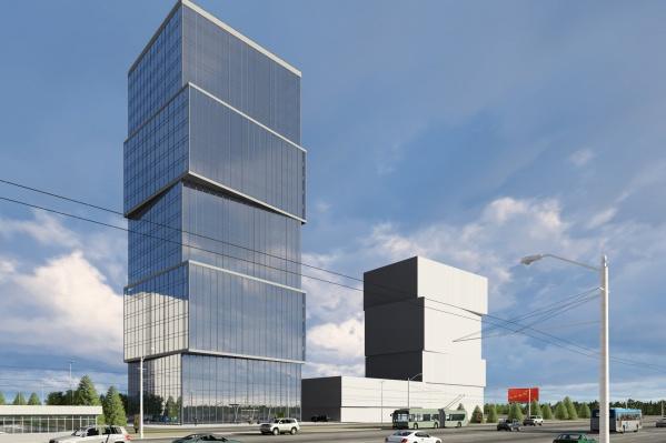 Гостиница станет более высокой копией здания бизнес-центра по соседству