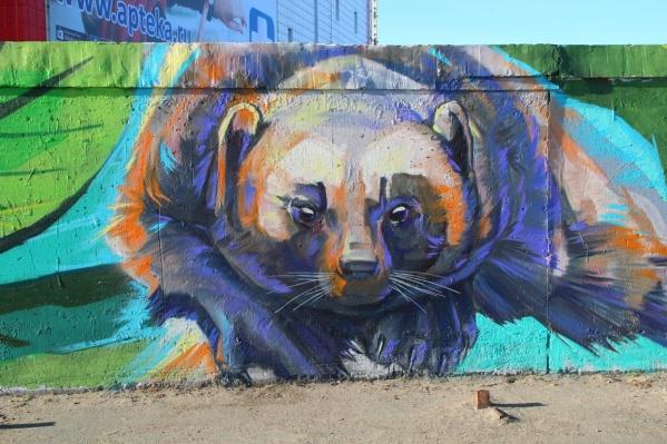 Такого зверька можно увидеть на стене у парка «Россия — моя история»