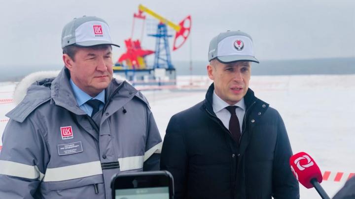 Глава Удмуртии посетил первое на территории республики месторождение «ЛУКОЙЛ-ПЕРМИ»