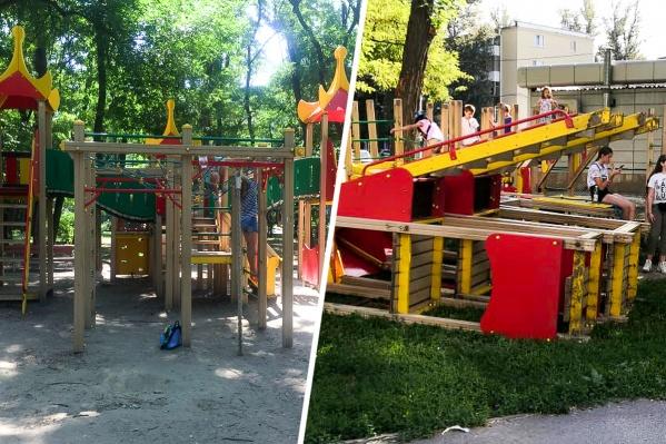 Бывшую детскую площадку из парка «Осенний» перенесут по новому адресу. А на ее месте сделают новый комплекс