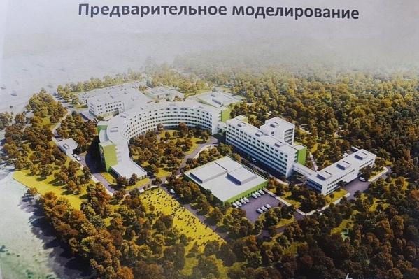 Примерно так будет выглядеть больница