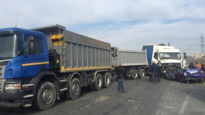 В Челябинской области произошло массовое ДТП
