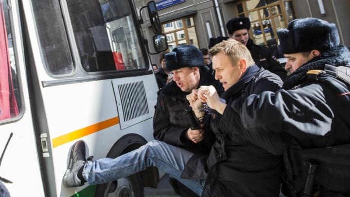 Алексей Навальный проведёт ночь в отделении полиции после задержания на митинге в Москве