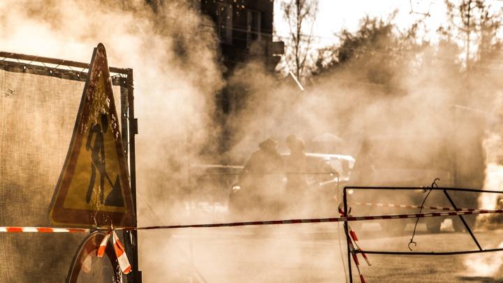 К Новому году закопают: один из выездов на улицу Ватутиназакрыли из-за ремонта трубы