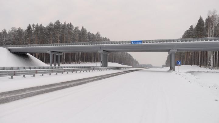 Осталось только снег убрать: фоторепортаж с нового участка ЕКАД, который готовят к открытию