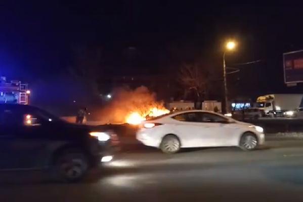 ЧП случилось недалеко от конечной остановки в Александровке
