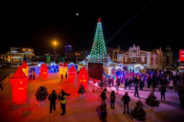 Стоимость главного ледового городка в Новосибирске — 14 миллионов рублей