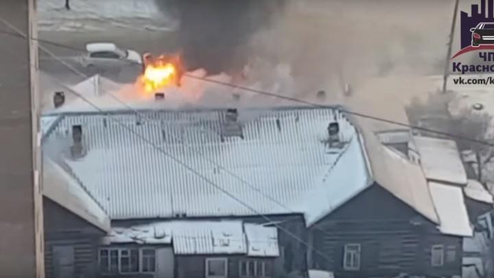 На правом берегу сгорел многоквартирный жилой дом