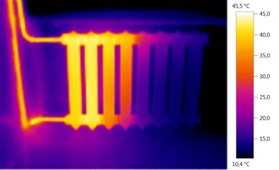 чартерные картинка с тепловизора батарея размытие